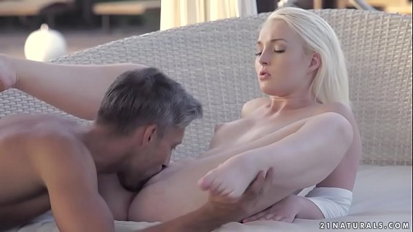 Blonde babe and her lover's big dick
