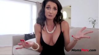 Blackmailed MOM fucks her SON