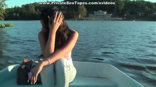 Hot amateur wife fucked in the boat