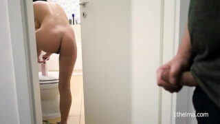 i caught him jerking and  i help him to cum
